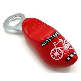 Klomp opener 8cm Rood met fiets