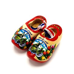 Souvenir woodenshoes 5cm Red Sole