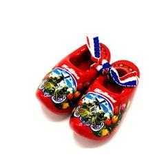 Souvenir woodenshoes 5cm Red