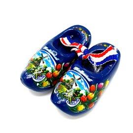 Souvenir woodenshoes 5cm Blue