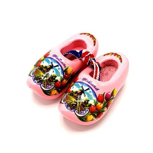 Souvenir woodenshoes 5cm Pink