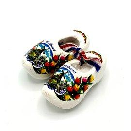 Souvenir woodenshoes 5cm White