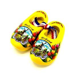 Souvenir woodenshoes 5cm Yellow