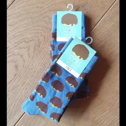 Sokken Bossche bol design donkerblauw