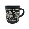 Retro Mug Bike Amsterdam black