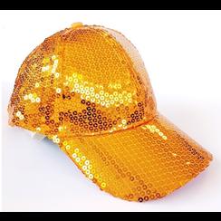 Glittercap oranje