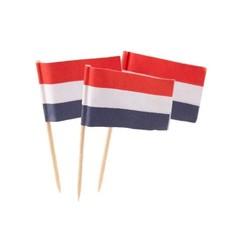 Cocktailprikkers met hollandse vlag 50pcs