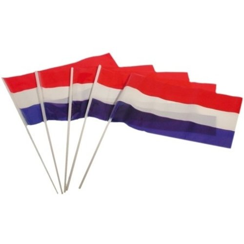Hand flags R/W/B plastic