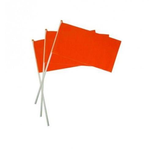 Hand flags Orange plastic