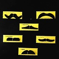 Fake moustache 6pcs