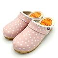 DINA DINA leather clogs pink dots
