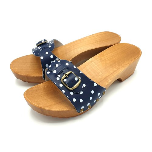 DINA DINA slippers blue dots