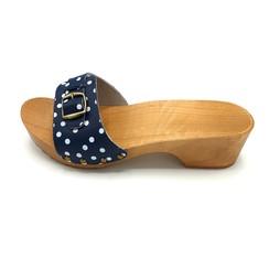 DINA sandalen blauw met dots