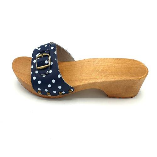DINA DINA sandalen blauw met dots