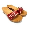DINA DINA slippers red dots