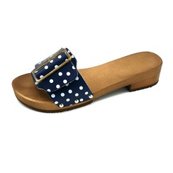 DINA slippers 2.0 blue dots