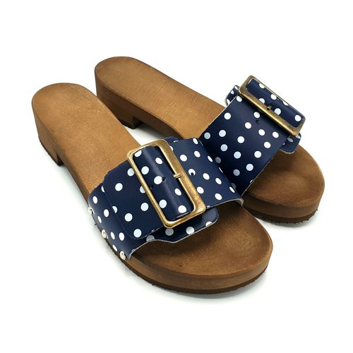 DINA DINA slippers 2.0 blue dots