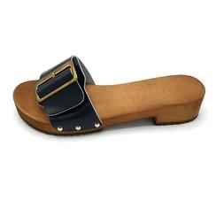 Sandals black wide buckle