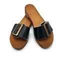 DINA Sandals black wide buckle