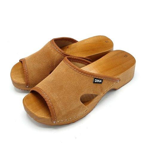 DINA Sandals suede beige