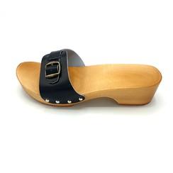 Sandalen zwart smalle gesp S1