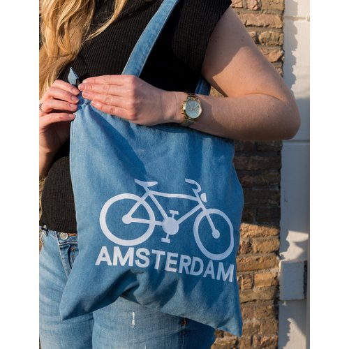 Amstel bags Amstel shoulderbag light blue bike