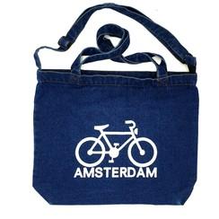 Amstel shopper bag dark blue bike