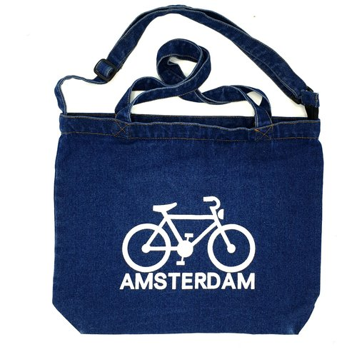 Amstel bags Amstel shopper bag dark blue bike