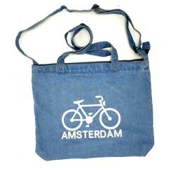 Amstel shopper bag light blue bike