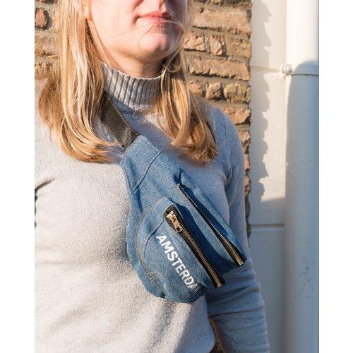 Amstel bags Amstel waist bag light blue bike