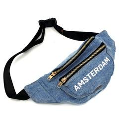 Amstel waist bag light blue bike