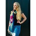 Irene Tulip scarfs sjaal blauw TR914