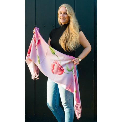 Irene Tulip scarfs scarf pink TR920