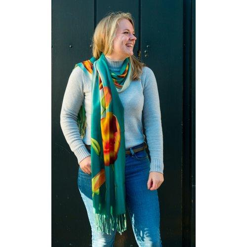 Irene Tulip scarfs sjaal groen TD918