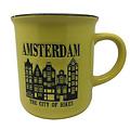Retro Mug Amsterdam Yellow