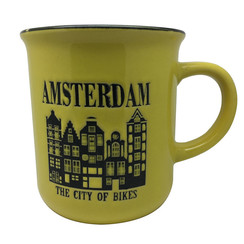 Retro Mug Amsterdam Yellow
