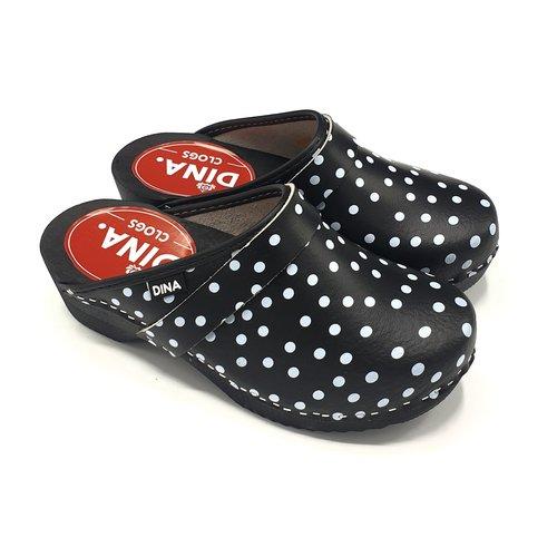 DINA DINA leather clogs Black dots