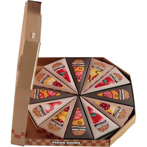 Pizza socks box with 12 pair