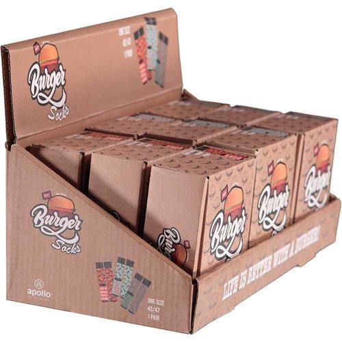 Hamburgersokken in box (12stuks per display)