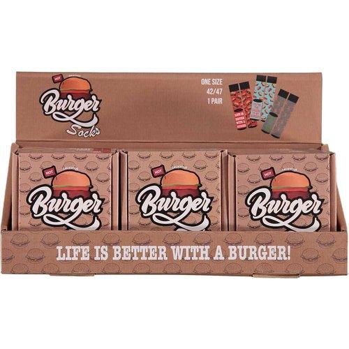 Hamburger socks in box(6pcs in display)