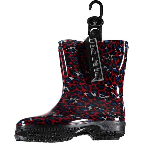Rain boots red leopard (10pair assorti)