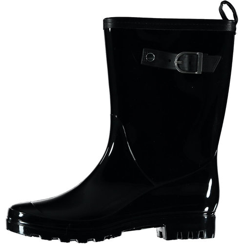 Rain boots black with buckle (10pair assorti)