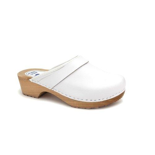 DINA Swedish clogs white