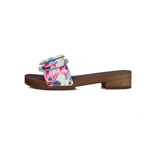DINA Sandals red dots wide buckle flowerparty