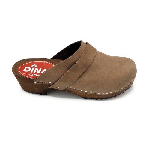 DINA DINA nubuck clogs Brown