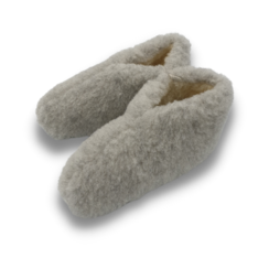 slippers wool 100% natural GREY
