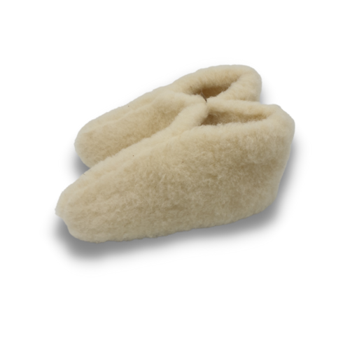 DINA slippers wool 100% natural WHITE