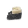 DINA sloffen 100% natuurlijk wol zwart met kraag