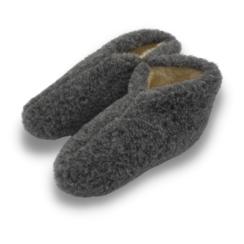 slippers wool 100% natural BLACK