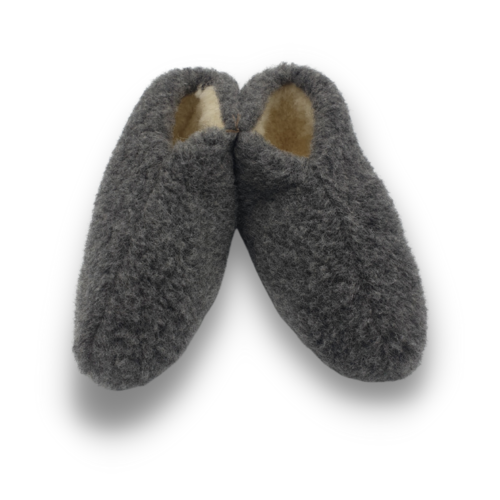 DINA slippers wool 100% natural BLACK